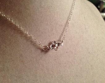 Flower Girl Necklace Wedding Jewellery Sterling Silver Jewelry Flower Girl Dainty Chain Pendant Children