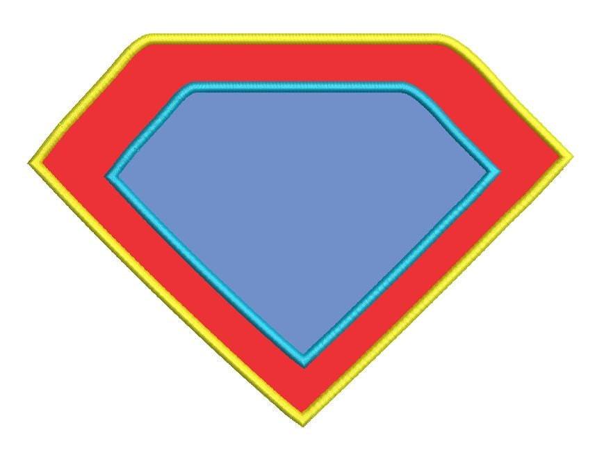 double applique blank superhero shield machine embroidery