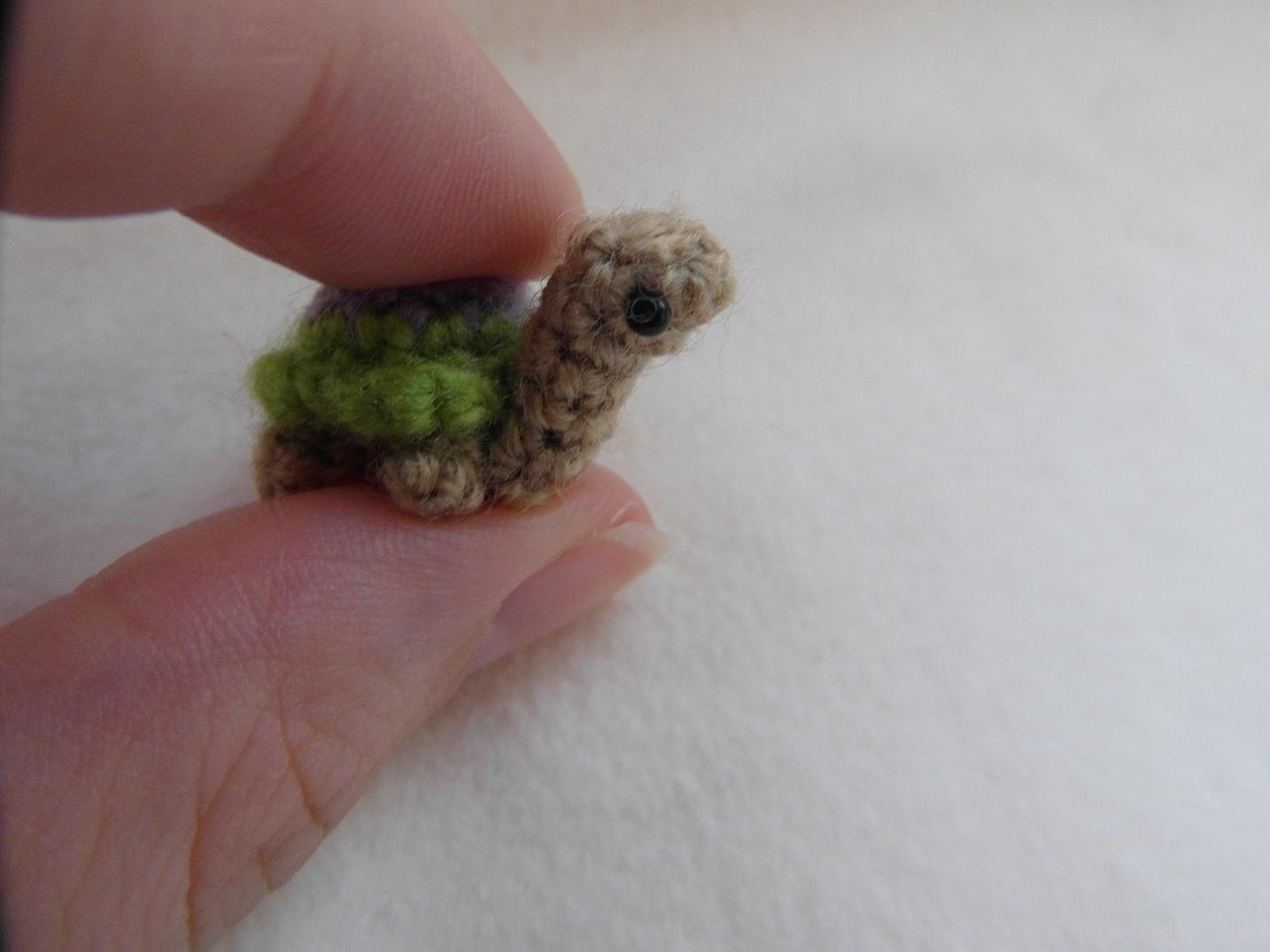 Oh so tiny Turtle crochet PATTERN PDF by cuteandkaboodle on Etsy