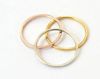 3  Rings Rose-Gold-Silver SIZE 6-6-6