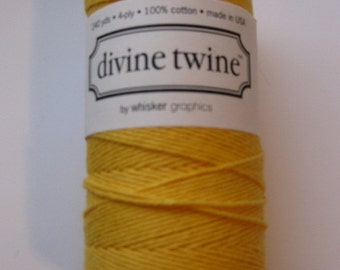 10 Yards of YELLOW Solid Divine - Yellow Bakers Twine