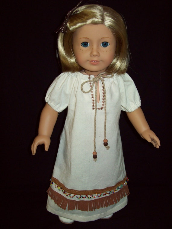 American Girl Doll clothes      18 inch  Native American  Peasant style  doll dress