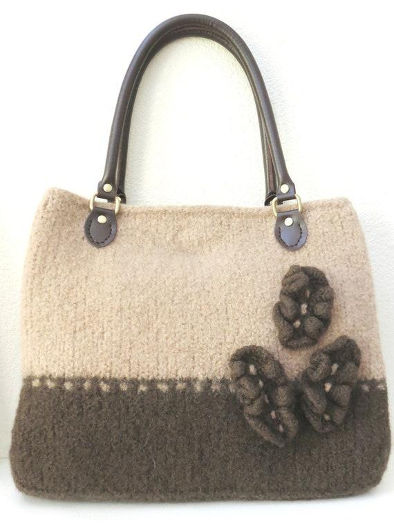 Felted Purse Knitting Patterns : Knit Bag Pattern Felted Purse Pattern by DeborahOLearyPattern