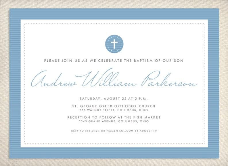Baptism Invitation by LeaDelaverisDesign on Etsy