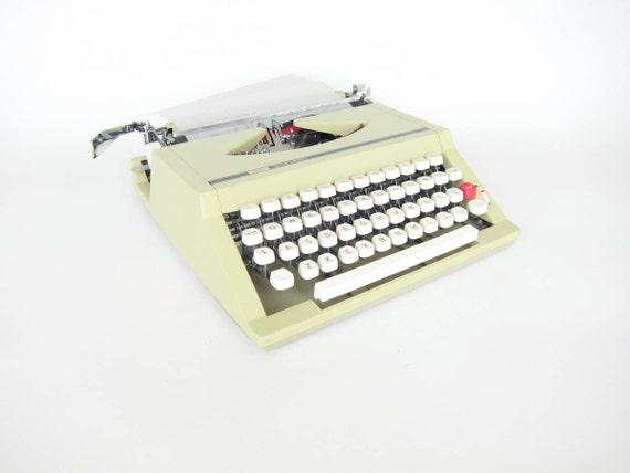 Vintage Typewriter - Yellow Sears Chevron
