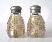 Antique Klondike Amberette Salt and Pepper shakers c. 1898