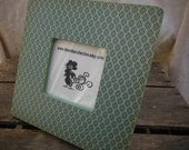 Picture Frame: Mint & Navy Blue