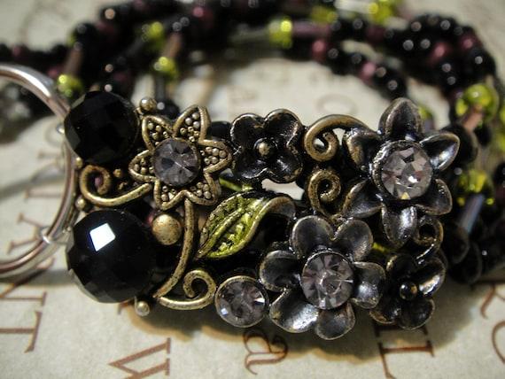 Jewelry Box Treasure: Metal and Glass Beaded Lanyard ID Badge Holder/ Glasses Holder