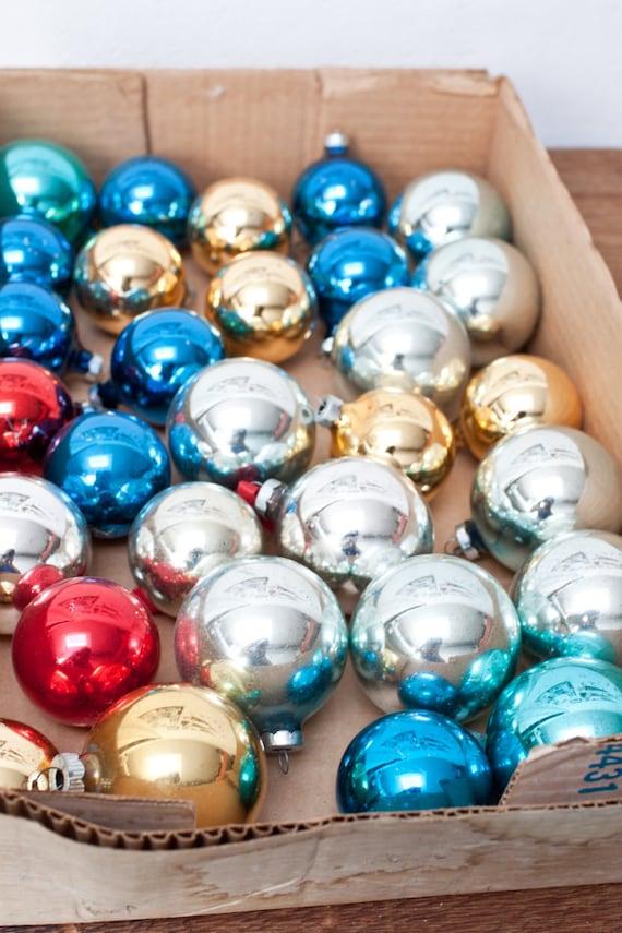 Set of 30 Glass Vintage Ornaments