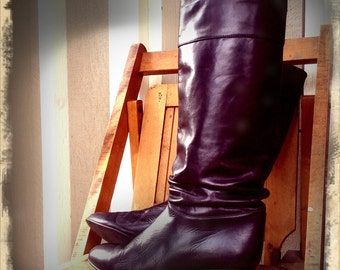 BOLD   ///   Tall Black Leather Boots