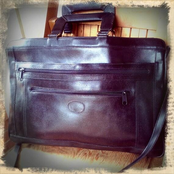 SHARK    ///    Leather Briefcase w/ Strap