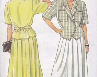 New Look 6333 Misses' Skirt and Top Pattern, UNCUT, Size All (8-10-12-14-16-18), Plus Size