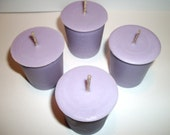 Lavender Scented Soy Votive Candles Set of 4