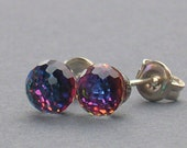 Special Heliotrope 6mm Disco Ball Earrings made with Swarovski Crystal Elements