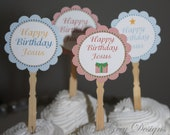 Happy Birthday Jesus Cupcake Toppers Christmas Party Suite INSTANT DOWNLOAD