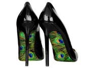 Wedding shoe peacock decal Peacock shoe decal wedding shoes stickers gift