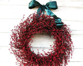 Christmas Wreath-Winter Wreath-Holiday Wreath-Red Door Wreath-Summer Home Decor-Holiday Home Decor-Scented Wreath-Home Decor-Gift for Mom