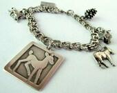 Vintage Sterling Silver Bambi Charm Bracelet