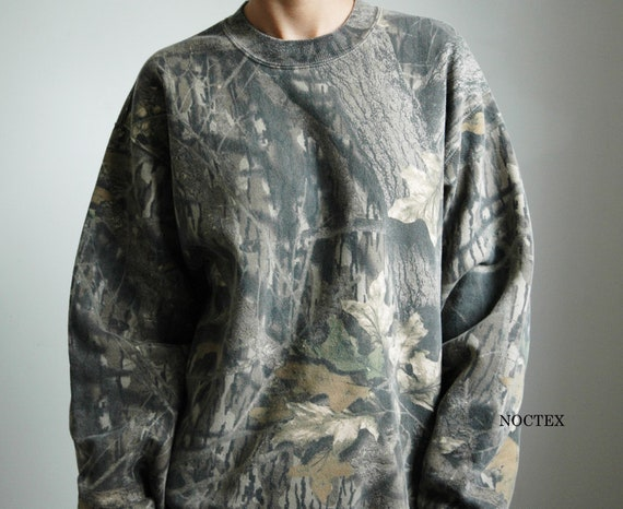 Vintage 90s Oversize Camo Pullover
