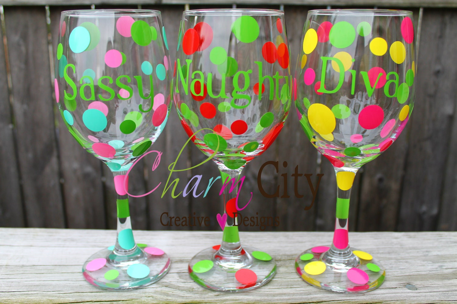 Wine glass personalized with cute sayings valentines by for Cute quotes for wine glasses
