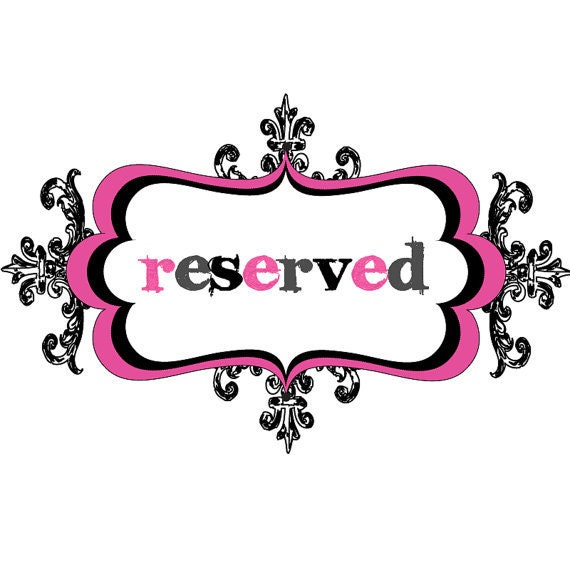 Reserved - Custom listing for Constanza