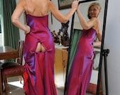 Very Sexy Long Dress, Burgundy, Size M, Worldwide Shipping
