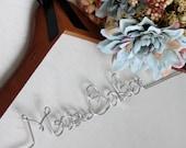 SALE Personalized Hanger, Wedding Hanger, Bride Hanger, Dress Hanger, Wedding Gift, WALNUT