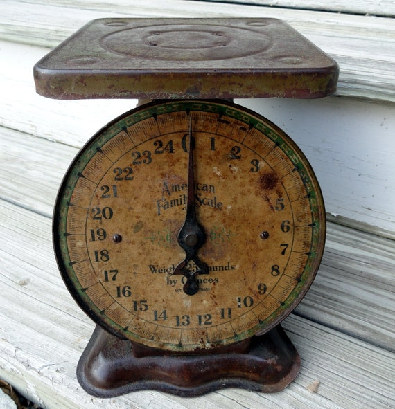 Antique Kitchen Scale: Vintage Kitchen Scale American Family 25 By