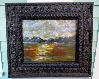 Abstract Landscape looks Rich in this Black Parisian Frame.