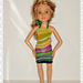 Psychedelic Beach Waves Dress for 18 Inch BFC Ink Dolls, Handmade