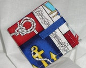 Tea Bag Wallet - Nautical Print Tea Bag Wallet/Holder for Your Purse or Pocket