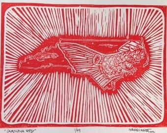 "North Carolina fly fishing artwork ""Carolina Red"" By Jonathan Marquardt of BadAxeDesign"