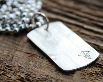 Personalized Medical Alert Necklace Fine Silver For Men and Women