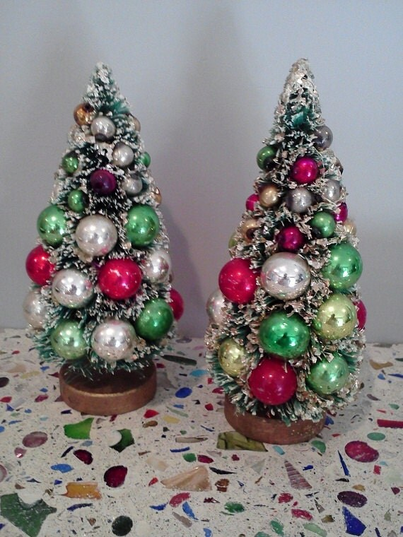 VERSATILE HOLIDAY DECOR: Bottle brush trees are made from plastic and Amazon's Choice for