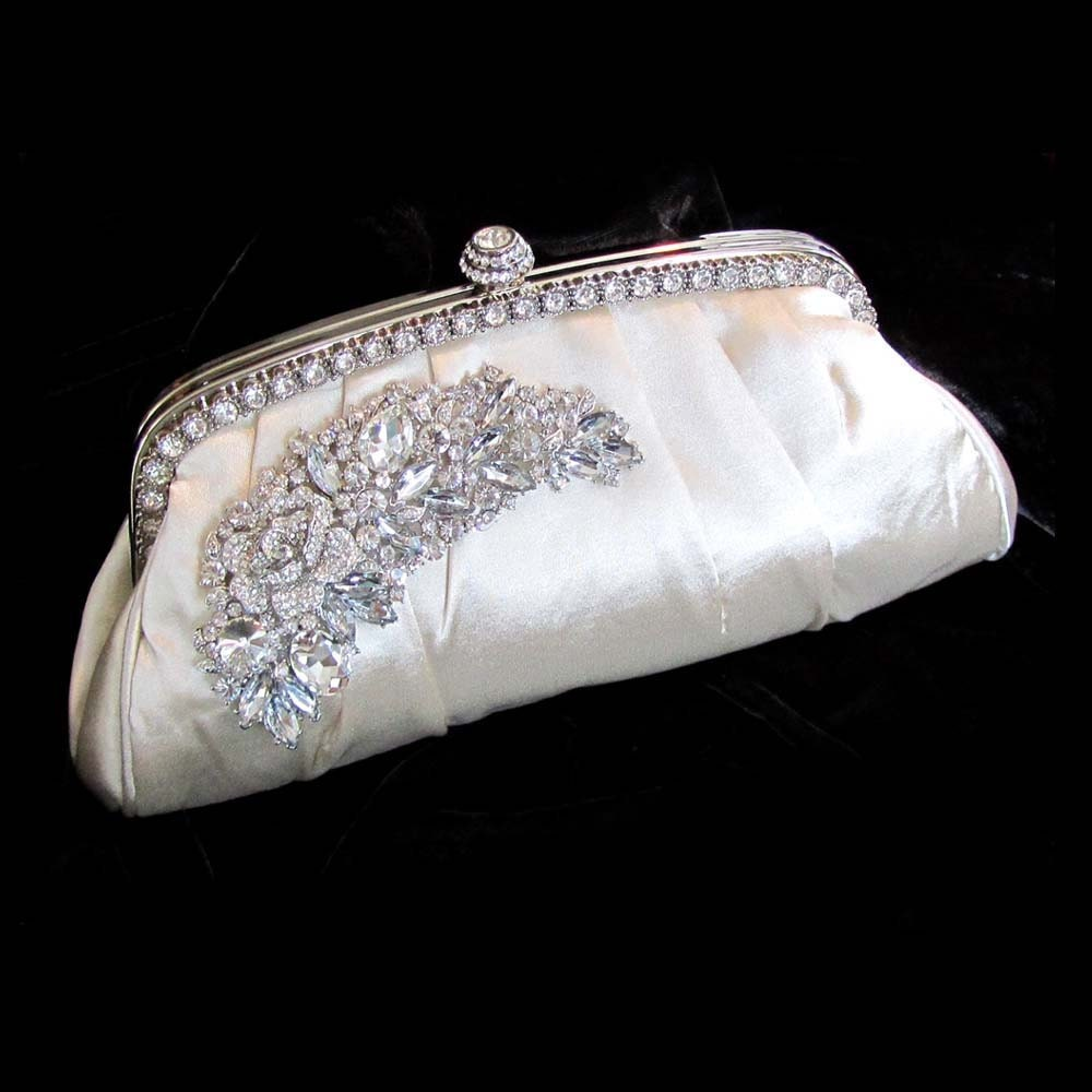 Wedding Clutch: Bridal Clutch Victorian Evening Bag Champagne By GlamDuchess