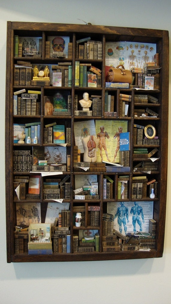 """Miniature Library miniature thematic """"doctor"""""""