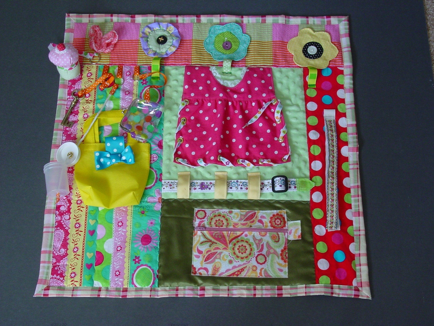 Polka Dots And Posies Fidget Quilt Tactile By Endearingdignite