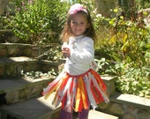 Colorful Fabric Tutu Skirt in Red Gold Paisley and More Girls Size 3T to 6Y Adustable Twirl Swishy Fun