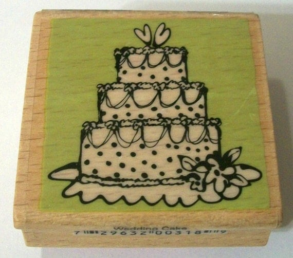 items similar to wedding cake rubber stamp on etsy. Black Bedroom Furniture Sets. Home Design Ideas