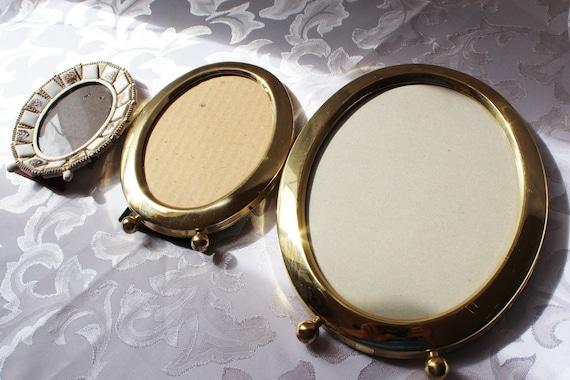 Vintage Oval Brass Picture Frames