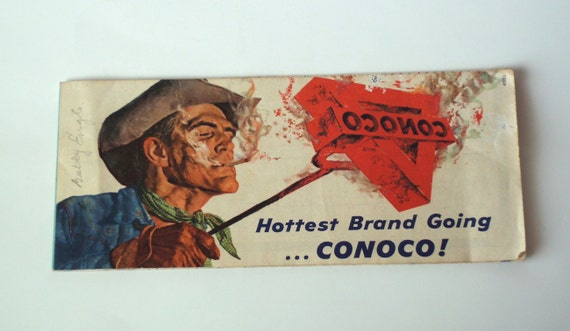 Vintage 50s Conoco Map of Kansas