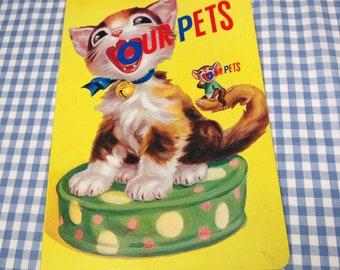our pets, vintage 1970s children's book