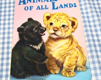 a picture book of animals of all lands, vintage 1970s children's book