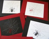 40% OFF NOV 12 Spider on Web Handmade Embroidered Card
