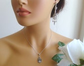 Vintage inspired art deco crystal rhinestone bridal jewelry set wedding jewelry bridal jewelry bridesmaid gifts