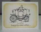 Cinderella Carriage Wedding Card