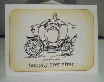 Cinderella Carriage Wedding Card