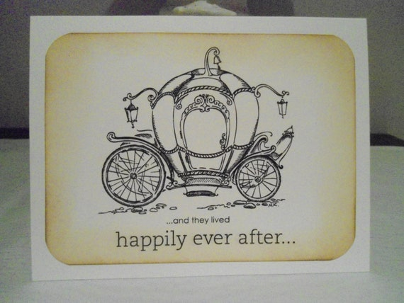 Happily Ever After Wedding Invitations: Cinderella Carriage Wedding Card