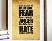 Star Wars - Yoda Poster Vintage Print