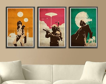 Vintage Pop Art Star Wars Trilogy